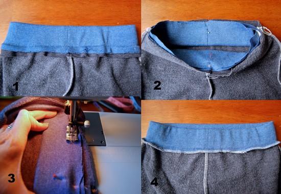 Как сшить резинку для штанов