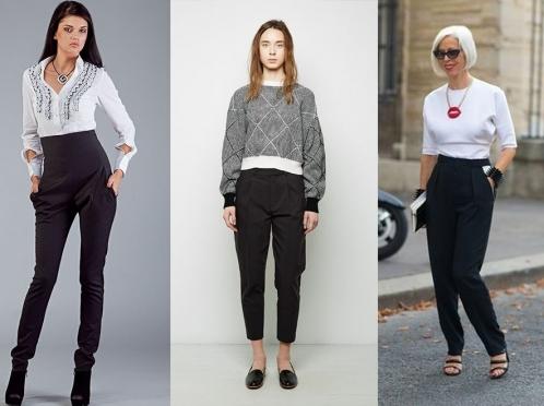 Що одягнути під чорні брюки. Чорні завужені жіночі штани 6766df75cad53
