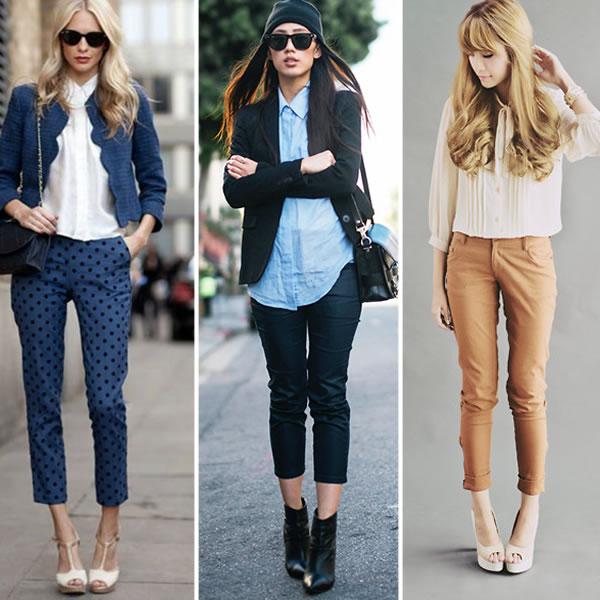 З чим одягнути вузькі короткі штани. З чим носити широкі укорочені ... 965e1f3d44011