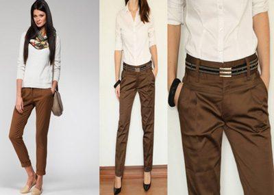 З чим носити руді штани. З чим носити коричневі штани  Види жіночих ... 233d1708c7f02