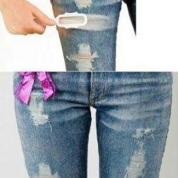 Потерта джинсова. Рвані джинси своїми руками. f442f5a2c8bed
